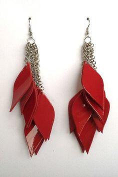 orecchini in pelle di Stile Pelle su DaWanda.com