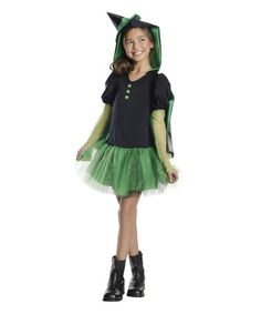 This Wicked Witch Hoodie Dress-Up Set - Girls is perfect! #zulilyfinds$31.99