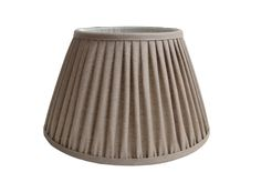 Natural linen gathered pleat on a Straight empire lampshade Natural Linen, Lampshades, Interior Design Inspiration, Light Decorations, Empire, Bulb, English, Ceiling Lights, Country