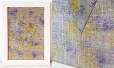 Items similar to Textile Art- Hand-dyed Heart- Purple Yellow Silver Linen Artwork Boho on Etsy Purple Yellow, Home Decor Accessories, Textile Art, June, Textiles, House Design, Colours, Boho, Heart