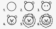 desenhos faceis de desenhar - leao
