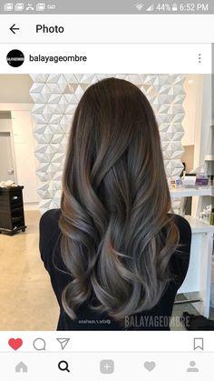 Ash brown hair, hair color for brown skin, hair highlights, hair color balayage Brown Ombre Hair, Ombre Hair Color, Grey Ombre, Soft Brown Hair, Subtle Ombre, Brown Blonde, Brown Skin, Hair Colour, Brunette Hair
