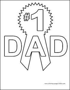 Lots of free colouring pages card fronts for Dad BirthdayHappy