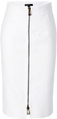 BELSTAFF White Cotton Harrow Pencil Skirt - Lyst