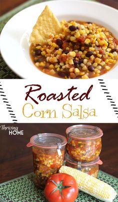 Roasted Corn and Black Bean Salsa - A BIG batch freezer recipe that your family and friends will love. Perfect for all those summer veggies!
