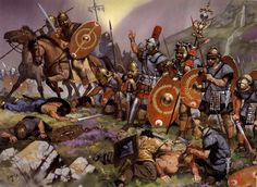 Roman auxiliaries in Britania, 118 A.D. ~ art by Angus McBride