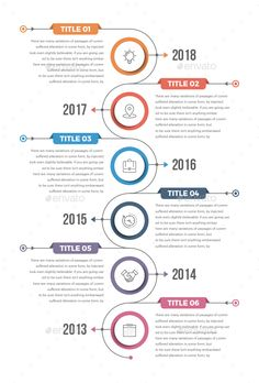 Modern Vertical Timeline Infographics Template Vector EPS, AI Illustrator - Easy Customizable and Editable - Well Organized - Fully Layered - Live Editable Text Infographic Examples, Circle Infographic, Process Infographic, Timeline Infographic, Infographic Templates, Infographics Design, Web Design, Book Design, Layout Design