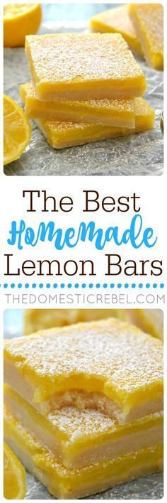 Classic, perfect and EASY with a bright, fresh lemon flavor in one gooey, buttery bar.