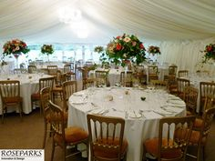 Centrepieces at Carberry Tower - http://www.roseparks.co.uk/?p=17556