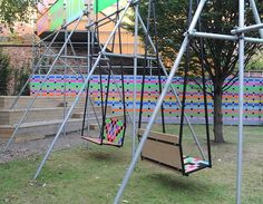 Swing it, Wakefield, UK, Morag Myerscough and Luke Morgan, 2014 | Playscapes