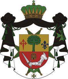 Mi escudo de armas, como Caballero de la Orden Militar y Hospitalaria de San Lázaro de Jerusalén.