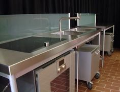 Bulthaup Küche System 20 Edelstahl