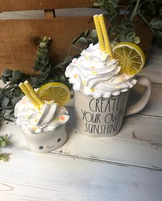 Excited to share this item from my shop: Lemon Rae Dunn Faux Whipped Cream Topper, Lemon Tiered Tray, Lemon Rae Dunn Topper, Faux Whip, Fake Whipped Cream Lemon Whipped Cream, Cream Mugs, Lemon Kitchen, Fourth Of July Decor, Diy Mugs, Valentines Design, Hot Chocolate Bars, Paper Cupcake, Fake Food