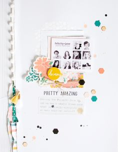 Pretty Amazing by ScatteredConfetti. // #scrapbooking #layout #felicityjane