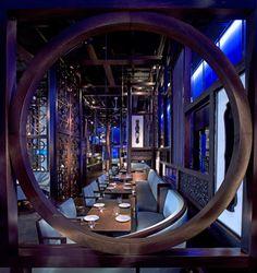Hakkasan restaurant in Abu Dhabi which was designed by Woods Bagot architects…