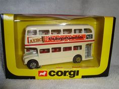 CORGI - 469 - AERO ROUTEMASTER DOUBLE DECKER BUS - CREAM - NO SCALE - LOOK !! in Toys & Games, Diecast & Vehicles, Cars, Trucks & Vans | eBay