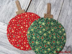 """Topflappen """"Weihnachtskugel"""" von Mobby-Made auf DaWanda.com"""