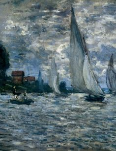 "I love the movement in this one! Monet was a genius! ""The Boats"" ~ Regatta at Argenteuil, Monet Claude Monet, Pierre Auguste Renoir, Edouard Manet, Camille Pissarro, Edgar Degas, Monet Paintings, Landscape Paintings, Artist Monet, Paris"