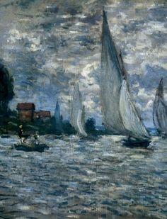 'The Boats' ~ Regatta at Argenteuil ~ France ~ Monet