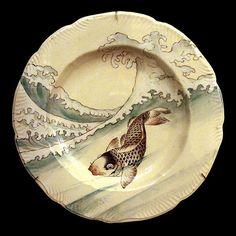 Assiette plate (service Lambert-Rousseau) Musée d'Orsay via http://www.flickr.com/photos/dalbera/3333046732/
