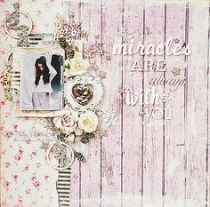 shabby chic scrapbooking layout