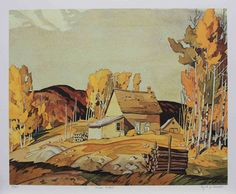 A. J. Casson Near Nobel Canadian Painters, Canadian Artists, Group Of Seven Paintings, Tom Thomson Paintings, Watercolor Illustration, Watercolor Art, Canada Images, Traditional Paintings, Landscape Art