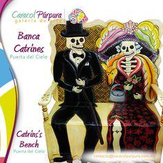 Banca de Catrines. Puerta del Cielo. Disponible para su venta en Caracol Púrpura