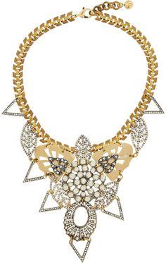 Lulu Frost Gold-plated Swarovski crystal necklace on shopstyle.co.uk
