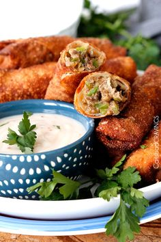 Philly Cheesesteak Egg Rolls | http://www.carlsbadcravings.com/philly-cheesesteak-egg-rolls-recipe/