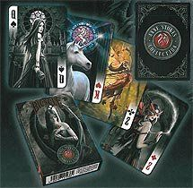 Sporting Goods: US Playing Card Educational Products - Lot 3 Bicycle DARK Playing Cards Collection Anne Stokes, Alchemy 1977 England & Guardians - 3 Deck Set