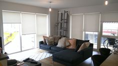 Thermal cotton roller blinds | Living room blinds | Bow East London