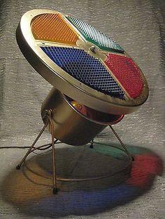 vintage mid century atomic spotlight christmas tree color wheel decor lamp