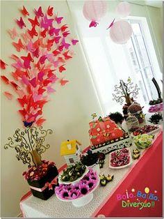 festa infantil tema jardim das borboletas - Pesquisa Google