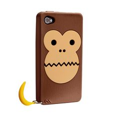 Bubbles Monkey iPhone 4/4S Case now featured on Fab.Now it's OK to monkey around when it comes to protecting your phone with the Bubbles Monkey Case by Case-Mate. The textured brown case has an ultra-smooth monkey face that provides an easy-to-hold grip. Fun to the last detail, a small banana charm hangs off the side.
