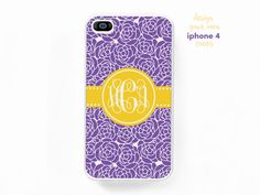 New to TheMonogramLine on Etsy: monogrammed iphone 4 4s cover  design your own (15.00 USD)