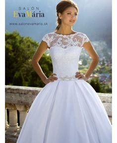 ALANA - princeznovské svadobné šaty s krajkovým vrškom