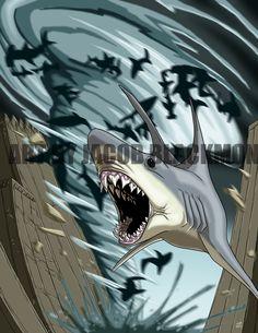 Sharkicane by ProdigyDuck.deviantart.com on @DeviantArt