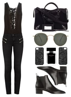 """""""#401"""" by missad3 ❤ liked on Polyvore featuring Acne Studios, Balenciaga, Givenchy, Ray-Ban, Marc by Marc Jacobs, J Brand and Narciso Rodriguez"""