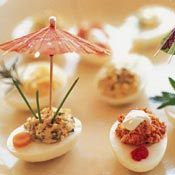 These Dad's Favorite Deviled Eggs are a great recipe for an appetizer or cocktail party food.