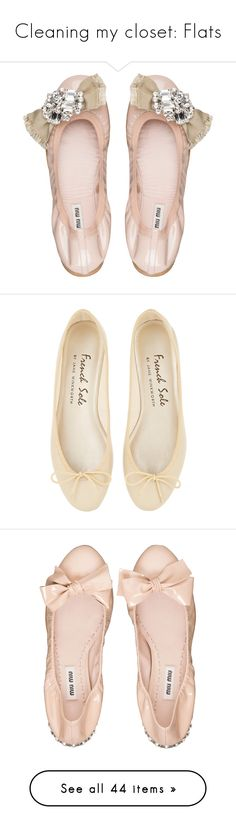 """""""Cleaning my closet: Flats"""" by bellacharlie ❤ liked on Polyvore featuring shoes, flats, ballet flats, ballerina flats, ballerina shoes, miu miu shoes, ballerina flat shoes, sapatilha, zapatos and leather flat shoes"""