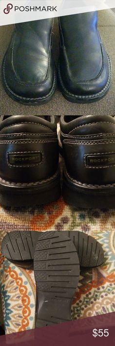 Rockport Casual Shoe Size 11W GUC... COMFORTABLE... SOME SCUFF MARKS Rockport Shoes Loafers & Slip-Ons