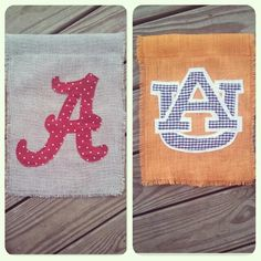 Superb Auburn And Alabama Garden Flags :)