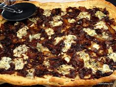 Caramelized Onion Pizza. Made this last night. It was really good! We added some spicy chicken sausage.