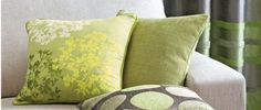 Green cushions from Next Home, £12