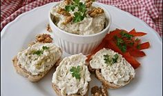 Pomazánka s Nivou a vlašskými ořechy Cooking Tips, Cooking Recipes, Feta, Potato Salad, Brunch, Food And Drink, Appetizers, Yummy Food, Cheese