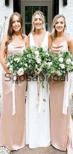 Cheap Spaghetti Straps Soft Beach Long Bridesmaid Dresses WG877  #Long #mismatched #blush #summer #bridesmaiddress #fall #bridesmaiddresses #bridesmaids #weddingguest #wedding #Modestbridesmaiddress #cheapdress #mermaid #summer #beach Champagne Bridesmaid Dresses, Modest Bridesmaid Dresses, Wedding Dresses, Bridesmaids, How To Make Shoes, Famous Brands, Dress Backs, Cheap Dresses, Dream Dress