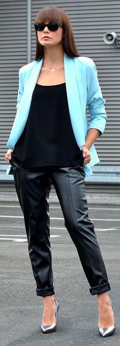 Lilumoda Black Women's Rolled Cuff Satin Trousers