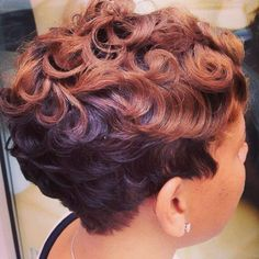 Wave pin curls