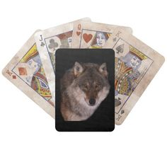 Lone wolf Playing Cards