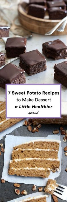 No need to give up the good stuff! 7 Sweet Potato Recipes to make dessert a little healthier!